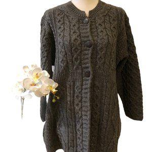 Kilronan Knitwear 100% Wool Sweater Large